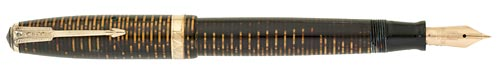 Parker Vacumatic - Laminated Brown - Gold Filled Trim - Vac Filler