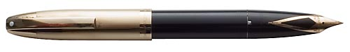 Sheaffer PFM V - Black - Gold Filled Cap Year - Snorkel Fill - Slight *Play* In Clip, Side To Side