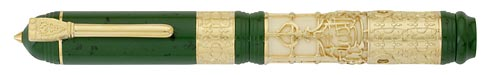 Visconti Limited Editions - Medina - Year: 2011 - Green/Ivory Resin/Gold Vermeil - Edition: 662 Fountain Pens  - Fountain Pen