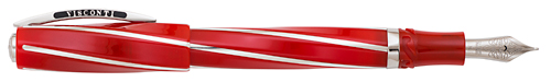 Visconti Limited Editions - Red Divina - Year: 2014 - Red/Sterling Silver  - Edition: 60 Fountain Pens - Oversized Fountain Pen