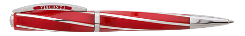 Visconti Limited Editions - Red Divina - Year: 2014 - Red/Sterling Silver - Edition: 100 Ball Pens - Ball Pen