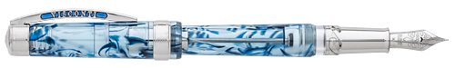Visconti Limited Editions - Ocean Breeze - Year: 2018 - Blue & Palladium Demonstrator - Edition: 118 Fountain Pens - Fountain Pen