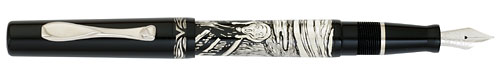 Visconti Limited Editions - The Scream - Year: 2009 - Black/Sterling Silver - Edition: 338 Pens - Fountain Pen