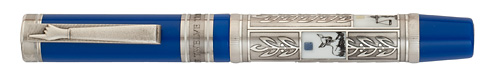Visconti Limited Editions - Twelve Tribes - Year: 2012 - Blue/Sterling Silver - Edition: 512 Total Ftn Pens & Rollerballs - Rollerball