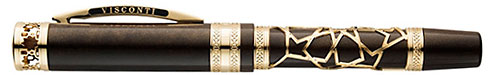 Visconti Limited Editions - Extase D'Oud - Year: 2014 - Gold Vermeil Filigree/.925 Sterling Silver - Edition: 388 Fountain Pens - Fountain Pen with Rollerball Attachment