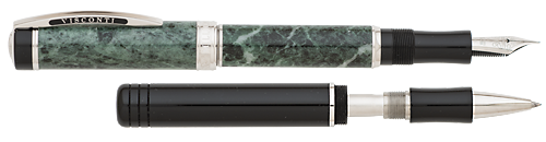 Visconti Limited Editions - Millionaire Luxury - Year: 2015  - Issiore Alpine Green Marble  - Edition: 988 Pens - Fountain Pen - Rollerball Convertible
