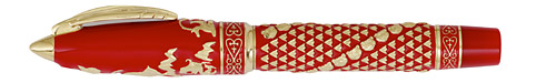 Visconti Limited Editions - Golden Man - Year: 2010 - Red/Gold Vermeil - Edition: 388 Fountain Pens/Rollerballs - Fountain Pen