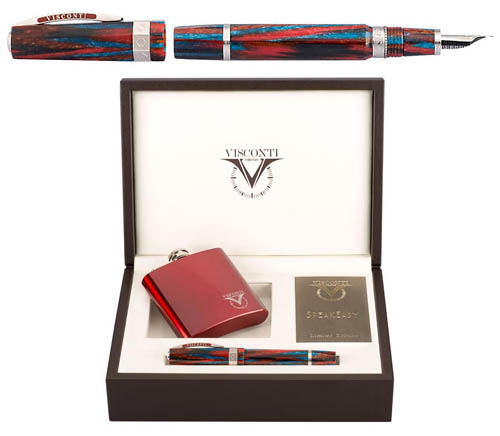 Visconti Limited Editions - Speakeasy - Year: 2015 - Red and Blue Celluloid - Edition: 1000 Pens - Fountain Pen