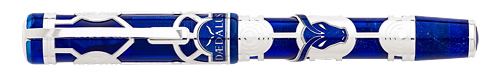 Visconti Limited Editions - Daedalus - Year: 2017 - Blue/Sterling Silver Overlay - Edition: Aggregate 388 Pens - Rollerball