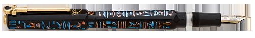 Visconti Limited Editions - Luxor - Year: 2017 - Black Ebonite/Maki-e - Edition: 98 Fountain Pens - Fountain Pen-Reg: $3,950