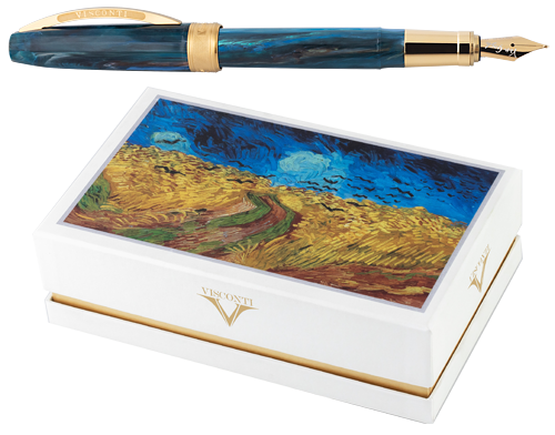 Wheatfield with Crows finish - Fountain Pen Gift Set with Free Ink shown