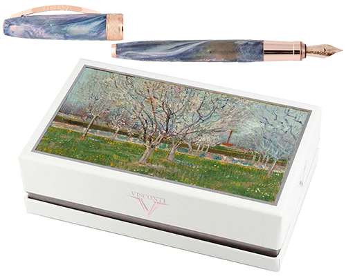 Orchard in Blossom  finish - Fountain Pen Gift Set with Free Ink shown