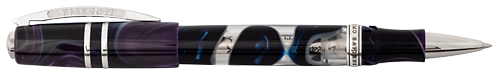 Visconti Limited Editions - Homo Sapiens Midnight in Florence - Year: 2019 - Purple & Blue Swirl  - Edition: 888 Pens - Rollerball