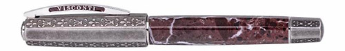 Visconti Limited Editions - Medici il Magnifico - Year: 2018 - Red Marble & Sterling Silver - Edition: 388 - Rollerball