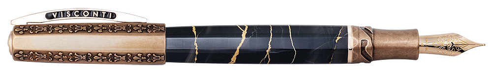 Visconti Limited Editions - Il Magnifico Black Marble - Year: 2021 - Black & Bronze - Edition: 188 - Fountain Pen