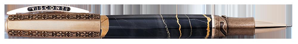 Visconti Limited Editions - Il Magnifico Black Marble - Year: 2021 - Black & Bronze - Edition: 188 - Rollerball