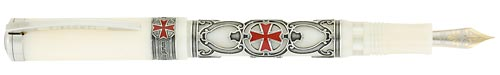 Visconti Limited Editions - Knights Templar - Year: 2009 - Aged Metal/Enamel/Ivory Resin - Edition: 312 Pens Worldwide - Fountain Pen