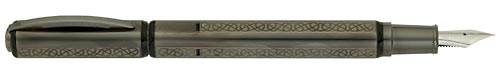 Visconti Limited Editions - Metropolis Sterling Silver Gordian Knot - Year: 2009 - Sterling Silver/Gun Metal Finish - Edition: 288 Fountain Pens - Fountain Pen
