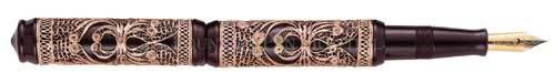 Visconti Limited Editions - Taj Mahal - Rose Gold Vermeil Filigree - Year: 1996 - Rose Gold Filigree - Edition: 388 Pens - Fountain Pen