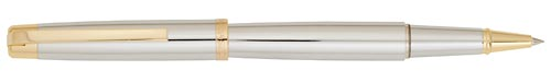 Chrome with Gold Trim finish - Rollerball shown