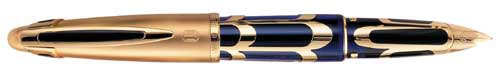 Waterman Limited Editions - Boucheron - Year: 1996 - Blue/Gold - Edition: 3741 pens - Fountain Pen